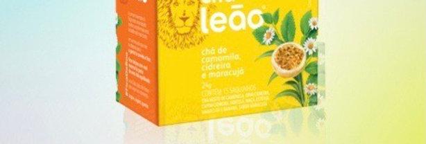 Chá de leão - chá de camomila,cidreira e maracujá 24g