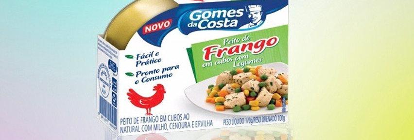 Gomes Costa peito de frango em cubos com legumes