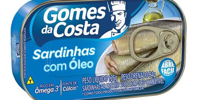 Gomes Costa sardinha com óleo 125g