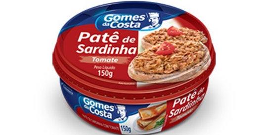 Gomes da Costa patê de sardinha com tomate 150g