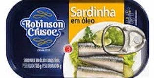 Robinson crusoe sardinha em óleo 125g