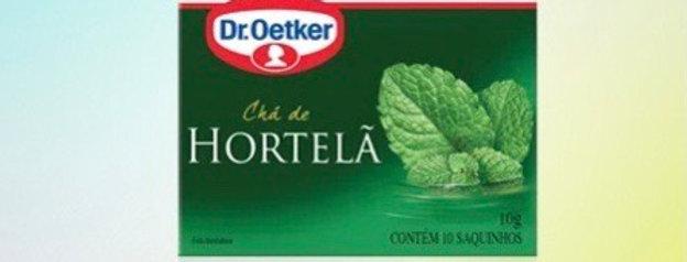 Chá hortela Dr Oetker