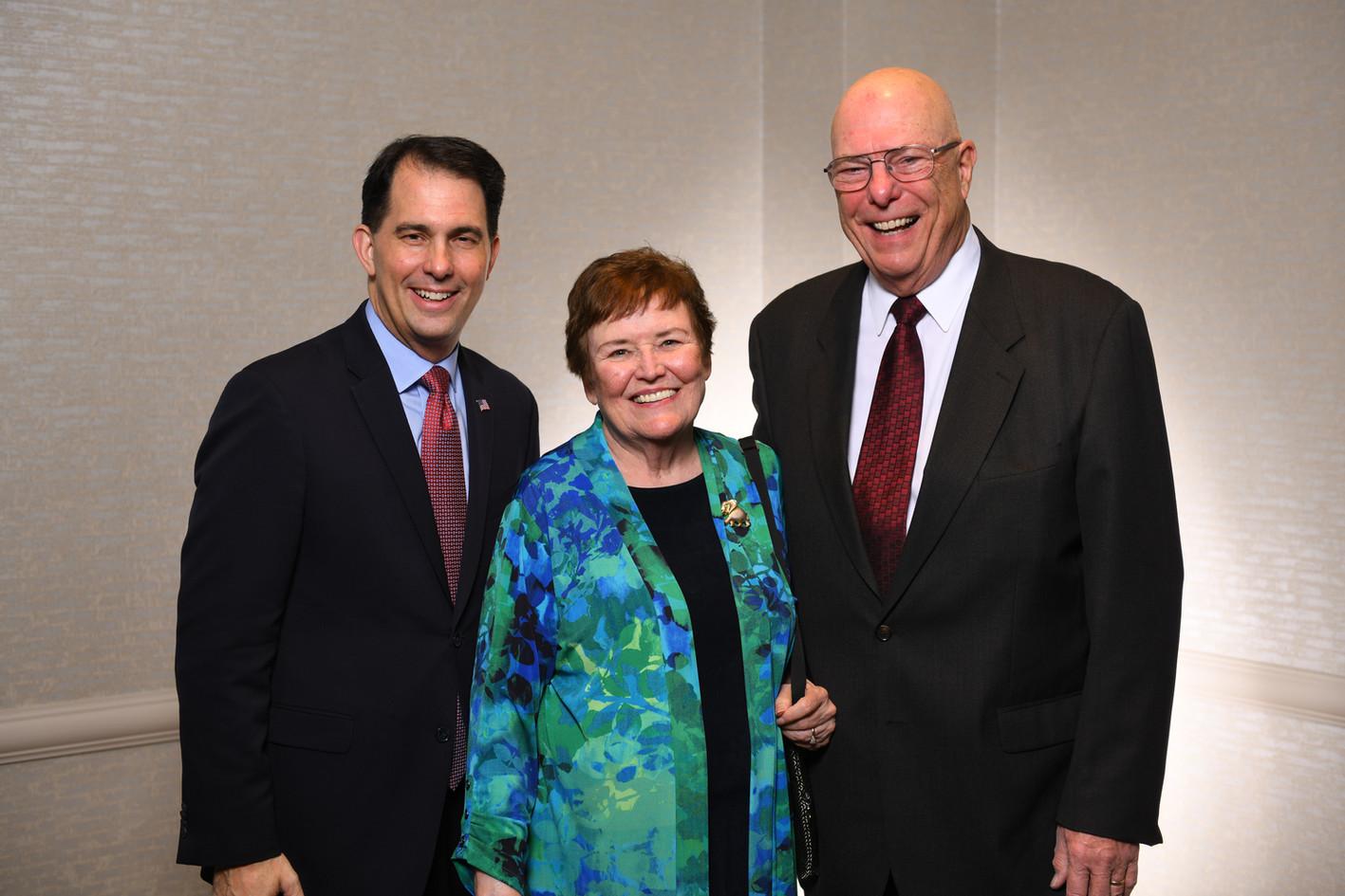 Scott Walker, Gail and Gary Wilhelm
