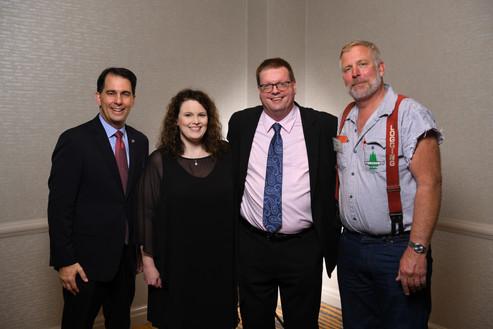 Scott Walker, Tracy and Christian Honl, Mike Pihl