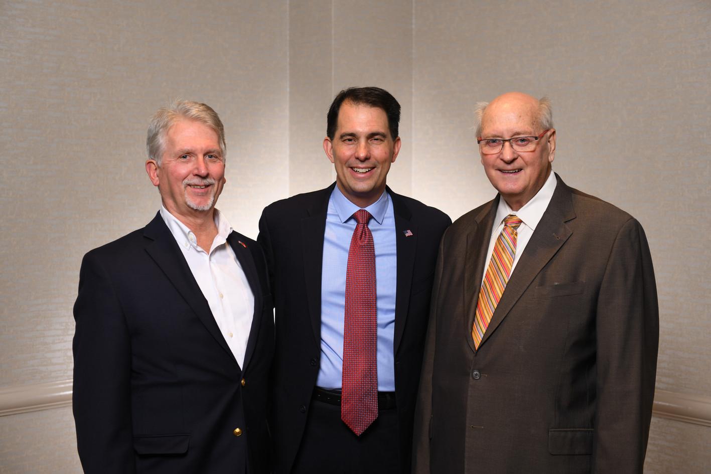 Bill Adams, Scott Walker, Bob Terry