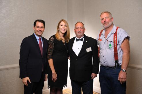 Scott Walker, Nancy and Brian Stout, Mike Pihl