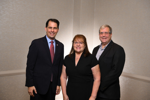 Scott Walker, Becky and Ron Mitts