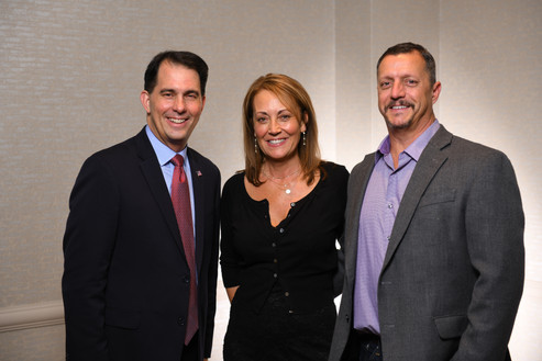 Scott Walker, Nancy and Keith Trahern