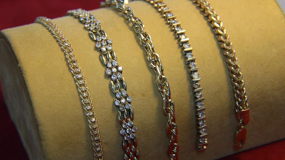gold/diamonds