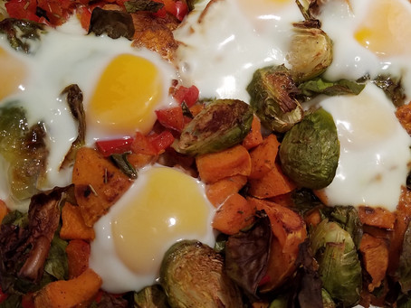 Brussels Sprouts and Sweet Potato Hash Recipe