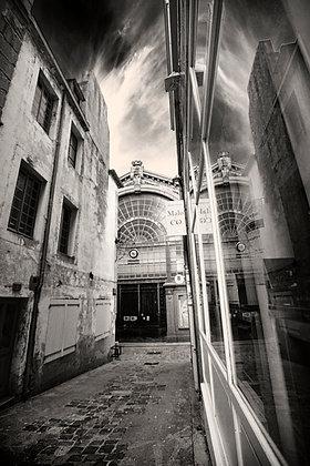 Rue de l'Orme en noir et blanc