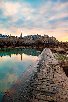 Saint-Malo en bleu et or