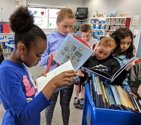 2018 WEBsite Sisson books with students.