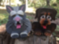Gala Pic 2018 Cat and Dog birdhouses.JPG
