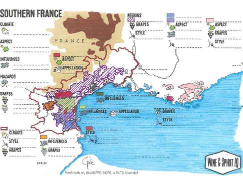 Southern France Blank Map