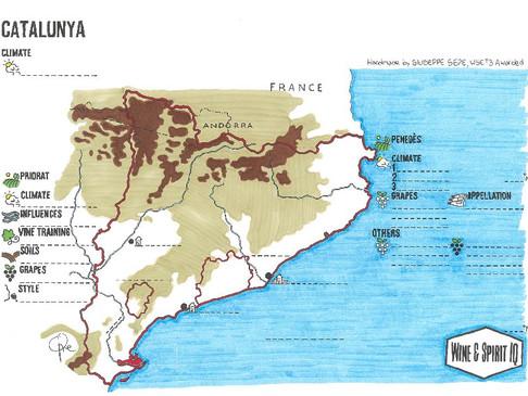 Catalunya & Rioja Blank Maps