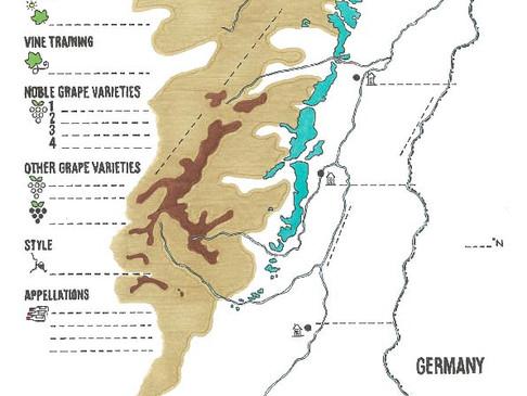 Alsace Wine Blank Map