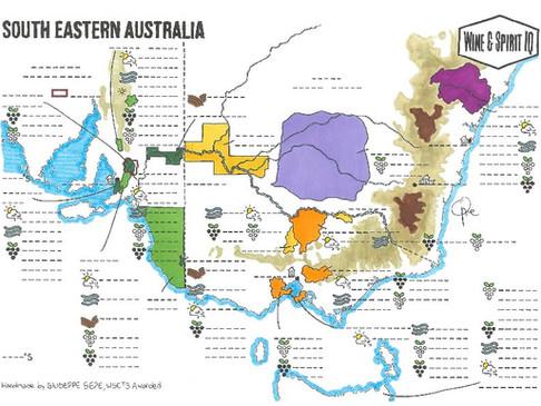 Southeastern Australia Blank Map
