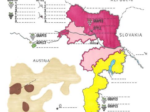 Austrian Wines Blank Map