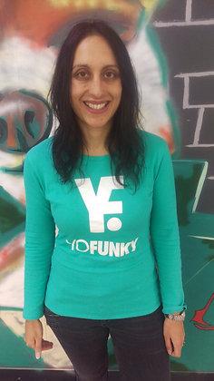 Ladies Fruit Green Long Sleeve T-shirt