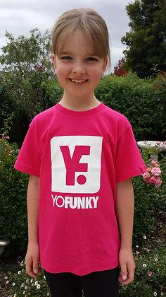 Kids Unisex Hot Pink T-shirt