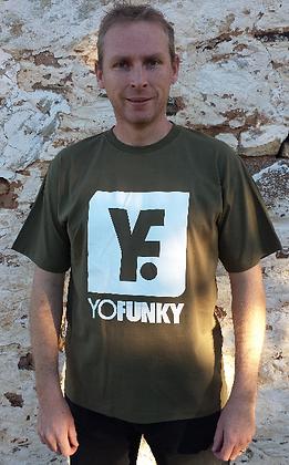 Mens Army Green Tshirt