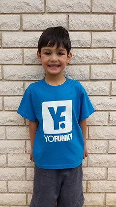 Kids Unisex Aqua Blue T-shirt