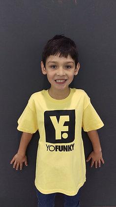 Kids Unisex Gold T-shirt Black Logo