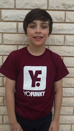 Kids Unisex Maroon T-shirt