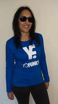 Ladies Blue Long Sleeve T-shirt