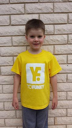 Kids Unisex Yellow T-shirt