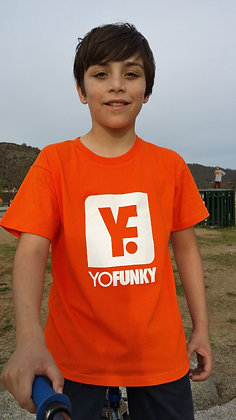 Kids Unisex Orange T-shirt
