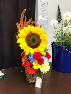 Sunflower Carnation bucket