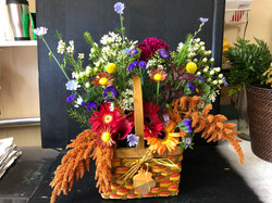 fall themed basket