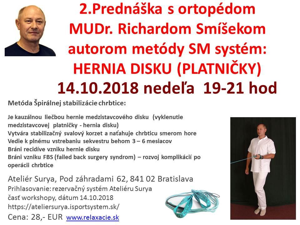 Prednáška s ortopédom
