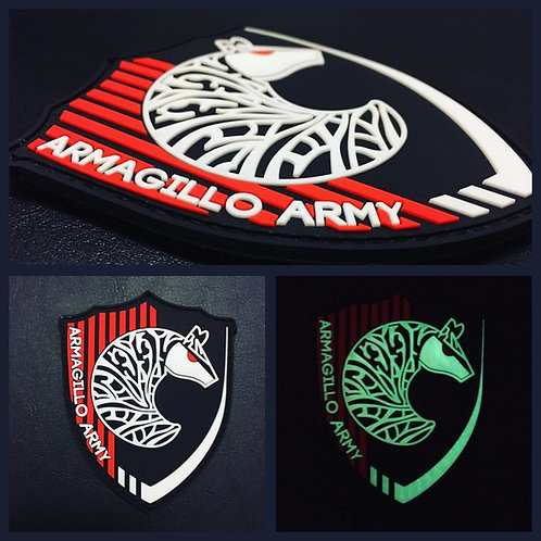 Armagillo Army Patch - Black/Red