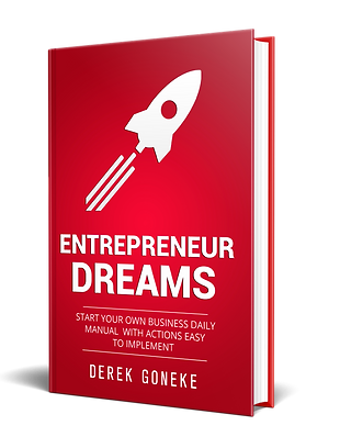 2.25  Entrepreneur Dreams Front cover 3D