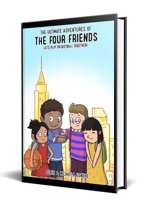 The Ultimate Adventures of the Four Friends: Let's play basket ball together