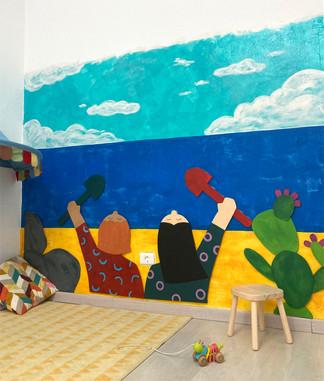 Mural: Grupo de juego el Charcón