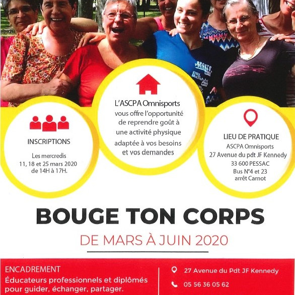 BOUGE TON CORPS avec L'ASCPA OMNISPORTS