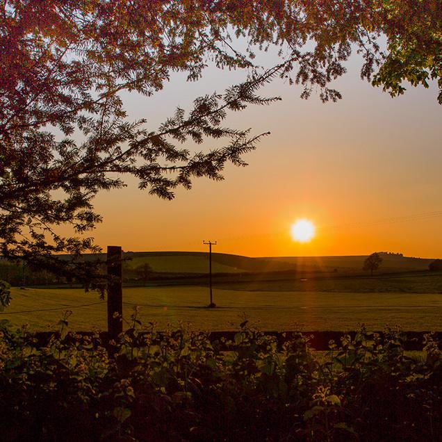 Sunset over the Marlborough Downs