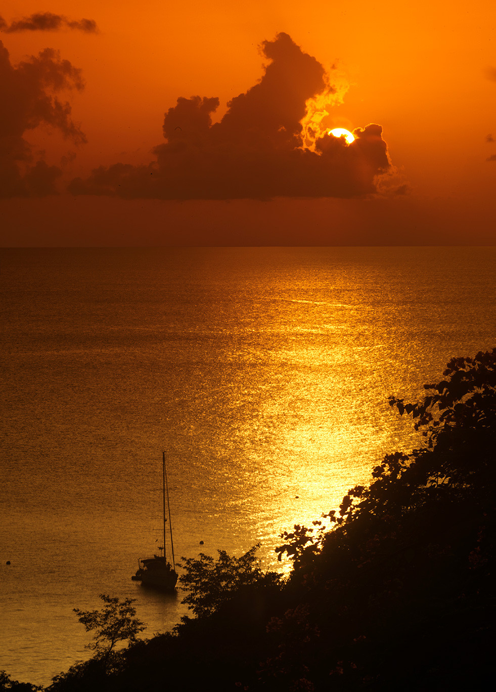 Sunset over Mustique