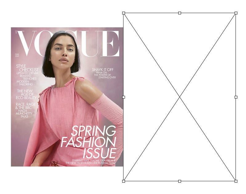 Vogue Magazine Cover compared to 36x24 aspect ratio of a 35mm frame