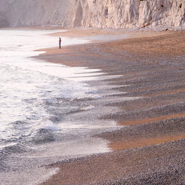 Lonely woman - The Jurrasic Coast - Dorset