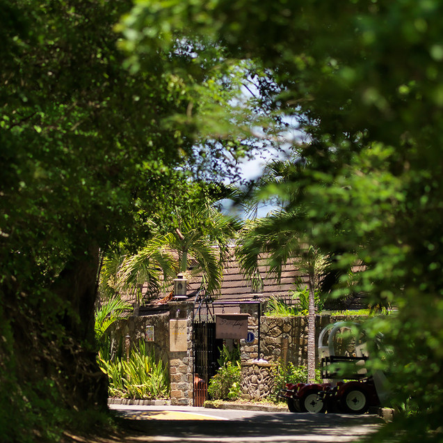Entrance to Firefly Mustique