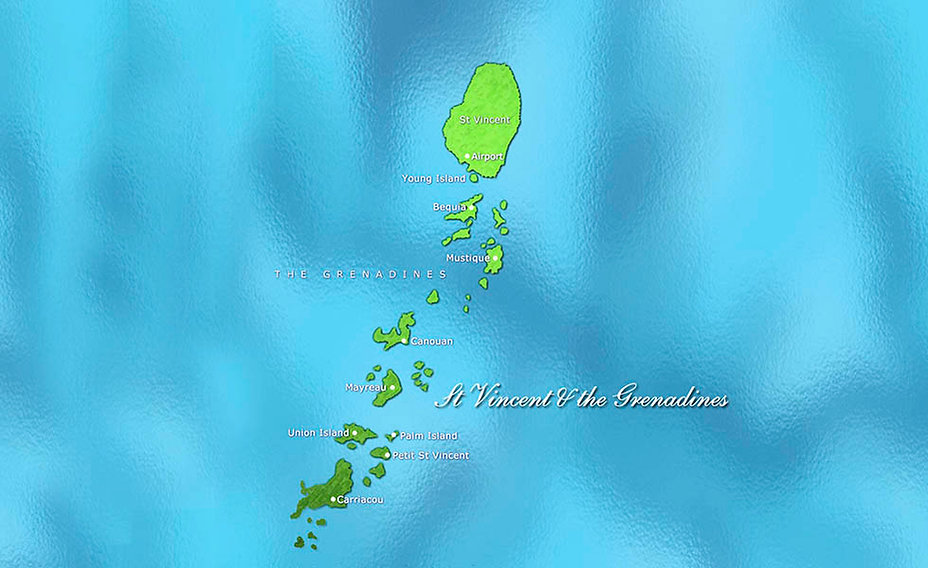 St Vincent & the Grenadines Map