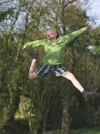 Alasdair - Jumping for joy