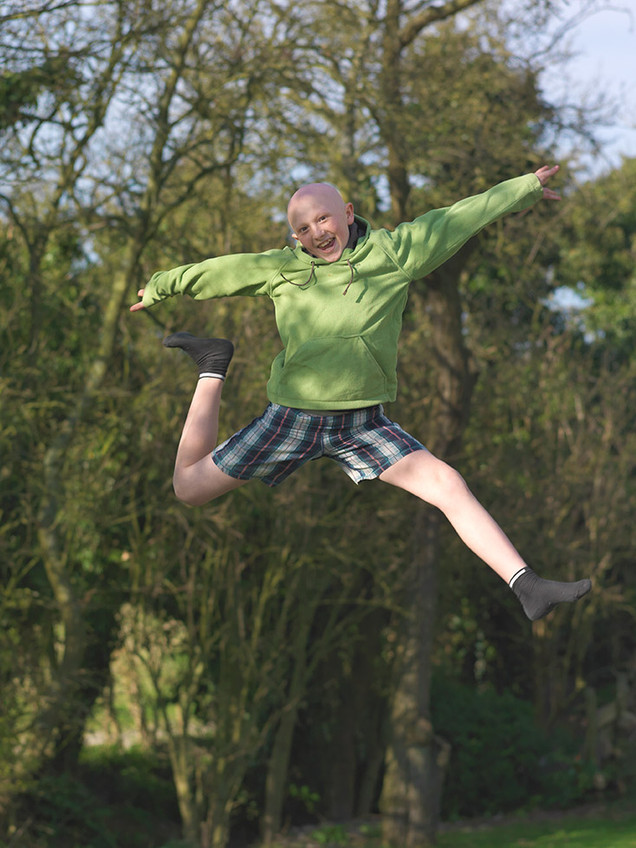 Alasdair - Jumping for joy