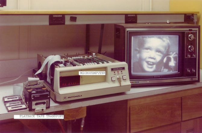 and here it is... from tape to computer to television