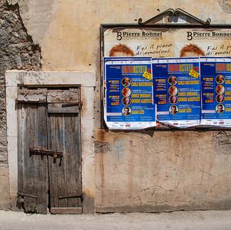 Door in a hill top village in Lazio, Italy